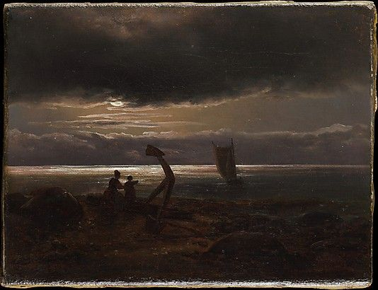 Johan Christian Dahl (Norwegian, 1788–1857). Mother and Child by the Sea, 1830. The Metropolitan Museum of Art, New York. Gift of Eugene V. Thaw, 2007 (2007.164.2)