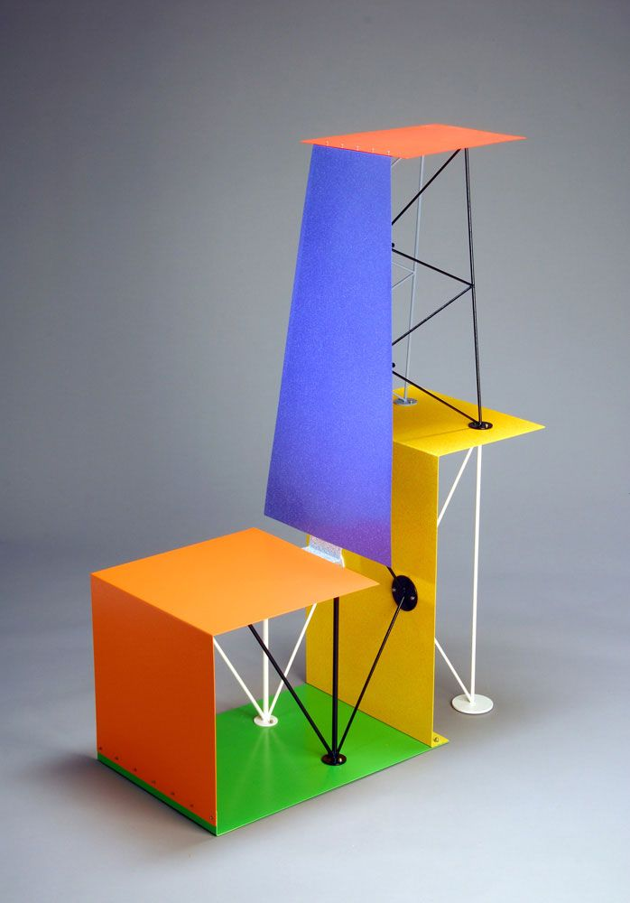 Peter Shire Plane Air I, Steel and enamel