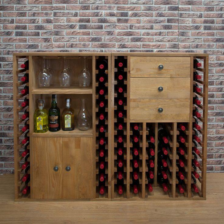 Weinregal PROVINALIA aus Holz, bestens geeignet auch für die Gastronomie.