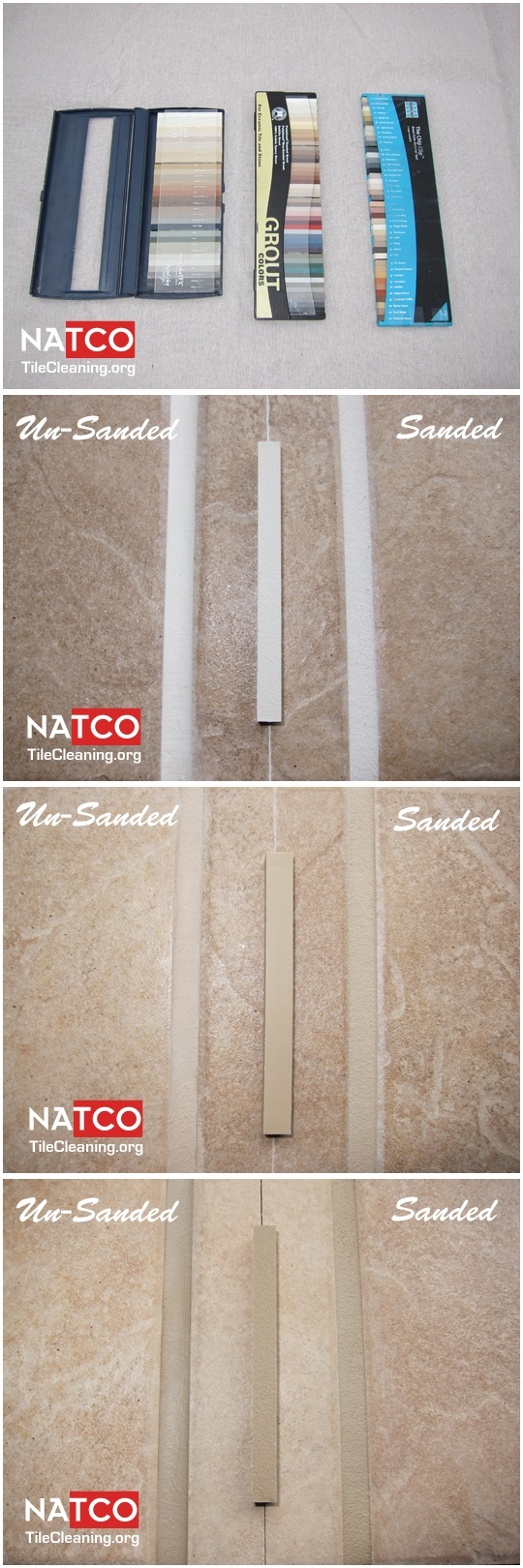 Differences between sanded and un-sanded grout.