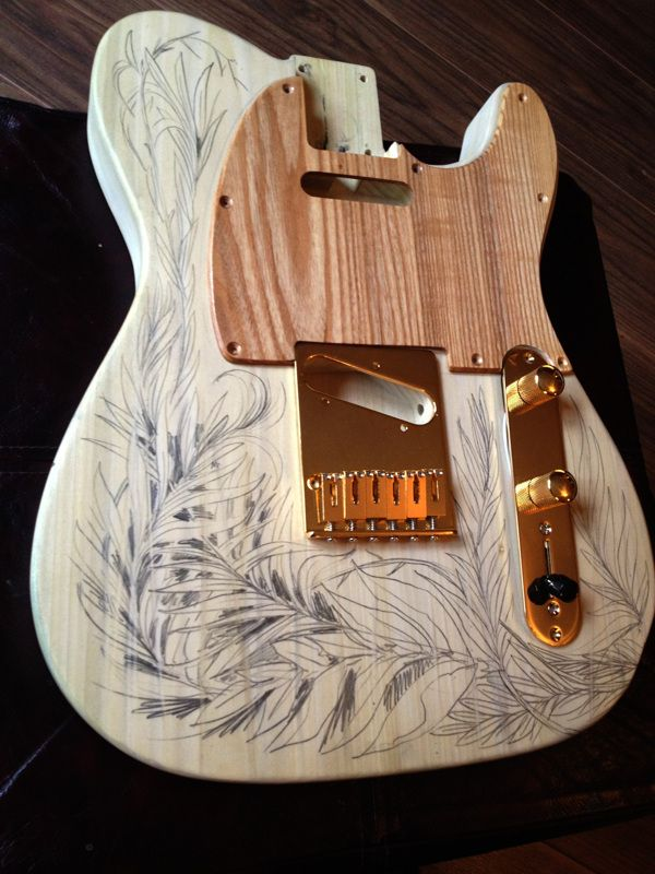 Custom Telecaster Guitar by Carne Griffiths, via Behance
