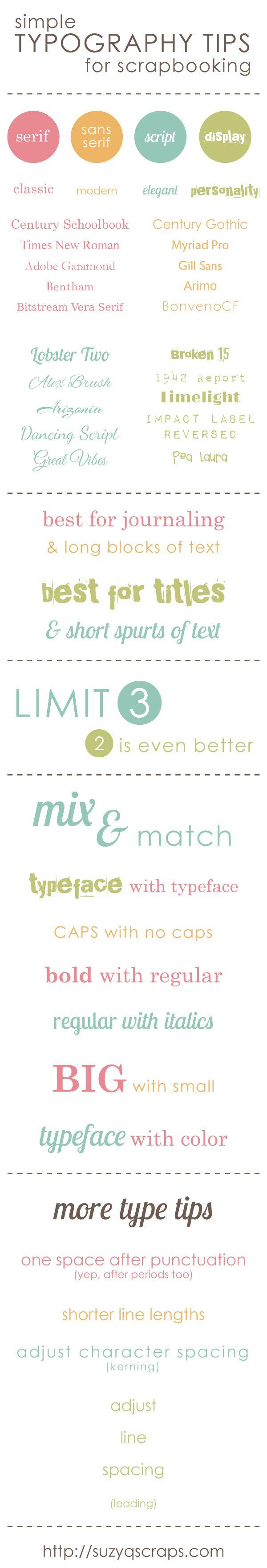scrapbooking typography tips