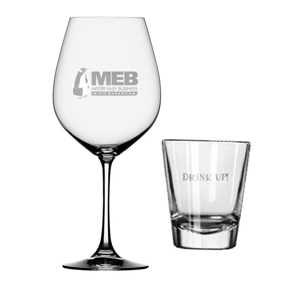 Engraved drinking glasses. Customize a glass for you favourite drink!