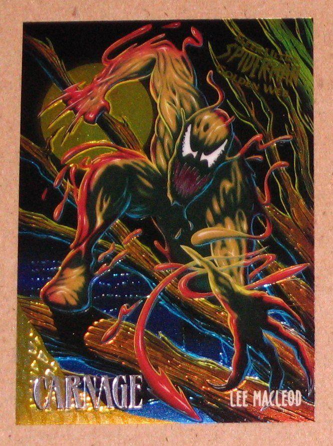 Spider-Man, Fleer Ultra (1995) Golden Web Card #2 Carnage EX