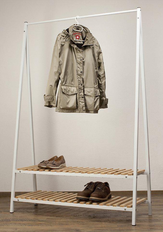 Standgarderobe »Robin« ab 169,99€. Mit 2 Ablageflächen, Inkl. Montagematerial, 1 Kleiderstange, Bietet viel Stauraum, Maße (B/T/H): 120/43/180 cm bei OTTO