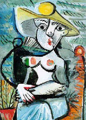 Pablo Picasso - Femme au chapeau assise 1971