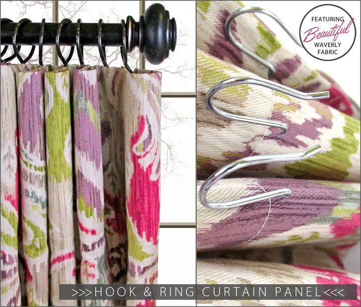 Traditional Hook & Ring Curtain Panel: Waverly World   Sew4Home