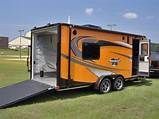 7x20 camper enclosed motorcycle cargo trailer toy hauler A/C work and play VRV | Motorcycle ...