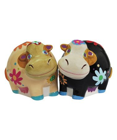 Loving this Cozy Cows Salt & Pepper Shakers on #zulily! #zulilyfinds