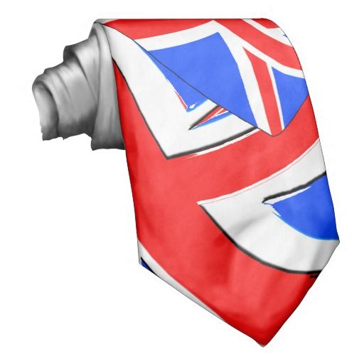 British by design custom ties union jack uk style