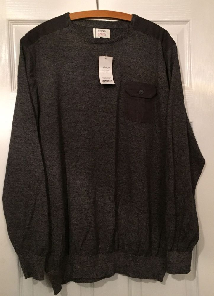 """George"" Mens Grey Jumper Size 2XL Brand New with tags warm for winter nice gift  