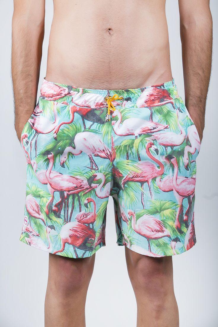 """The """"Flamingo"""" limited edition boardshorts #pcpswimwear"""