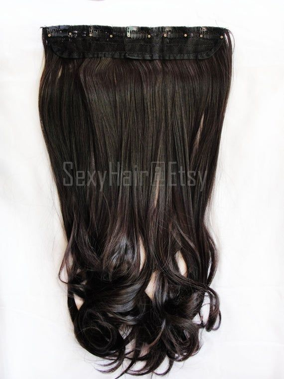 24″ Dark Brown Hair Extension, Brown Hair Extensions, Extensions, Hair Extensions, One Piece Multi-W