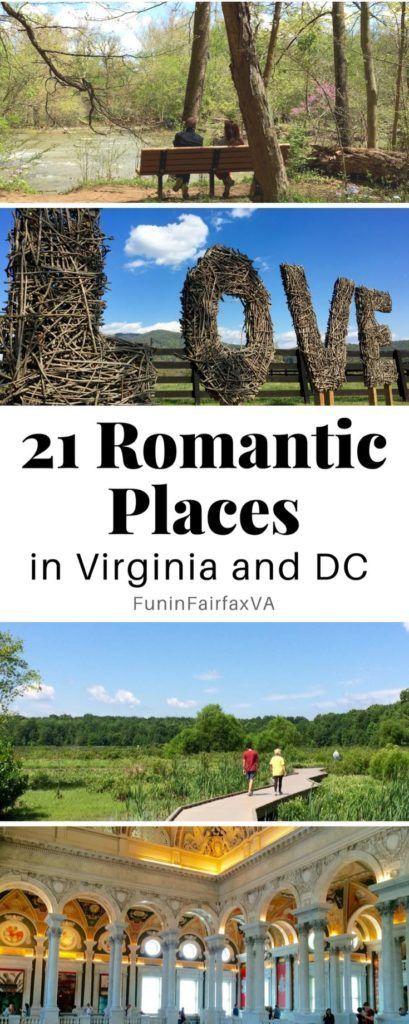 Romantic travel Virginia, Washington DC. 21 romantic places in Virginia and Washington DC, no reservations required.  #romance #virginia #washingtondc