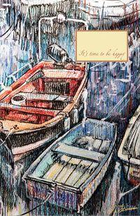 Блокнот `Рыбацкие лодки на отдыхе`