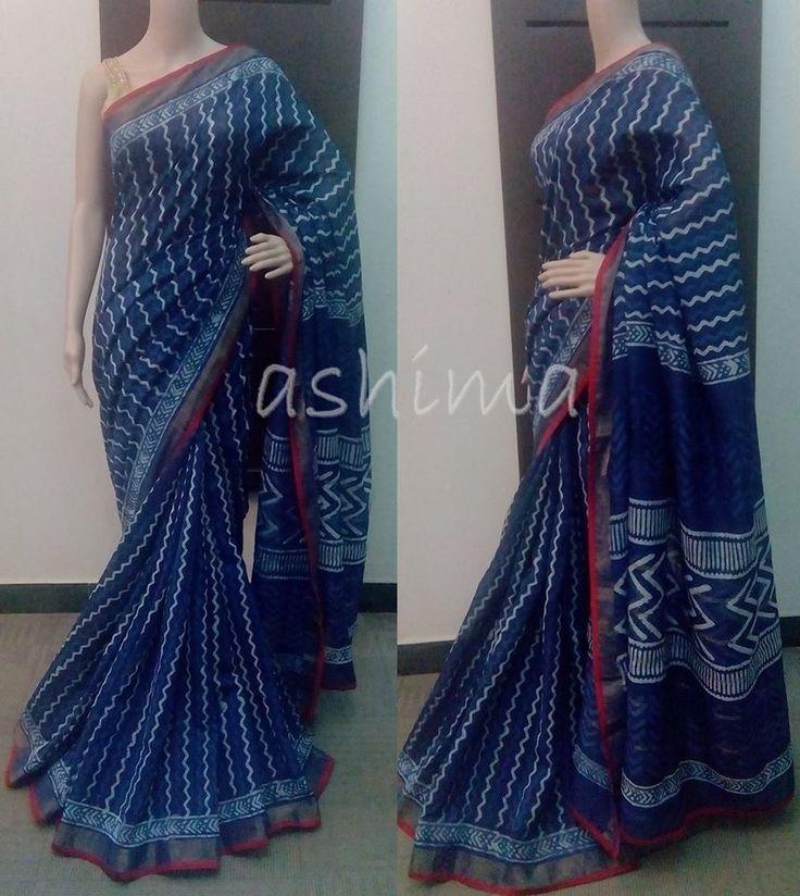 Code:2315153 - Printed Chanderi Cotton Saree Price INR:2950/-