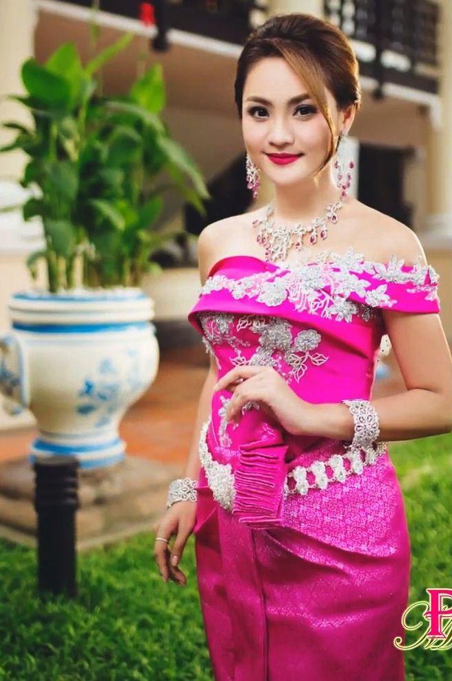 Encantador Vestido De Fiesta Khmer Ideas Ornamento Elaboración ...