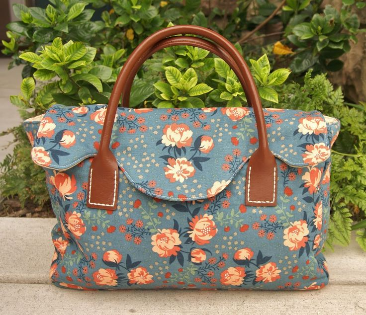 Fabric Mutt: Crafty Satchel made from Just for You book, pattern by Sara Lawson