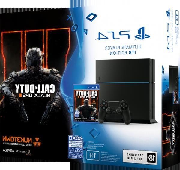 Игровая приставка Sony PlayStation 4 1TB (Матовая черная) + игра Call of Duty:Black Ops 3