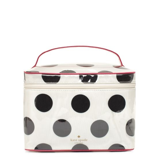 Kate Spade Le Pavillion large Natalie. Could never justify $148 on a cosmetics case (especially considering the one I own cost less than 5.00), which is why this will forever remain a wish. Love it though and the wipeable lining inside and out would make it last fo-eva.