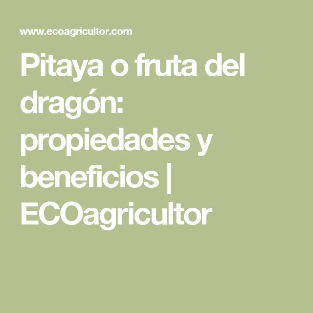 Pitaya o fruta del dragón: propiedades y beneficios | ECOagricultor