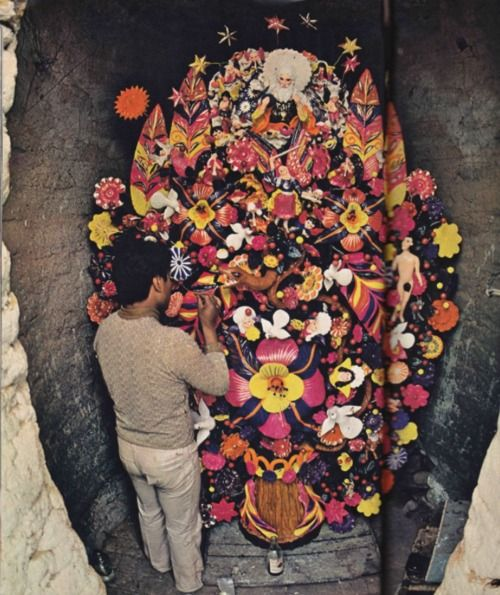 ///Sotento Painting, Clay Sculptures, Mexico City, Mexico Cities, Ornate Decor, Pedro Sotento, Huge Kiln, Tree Of Life, Painting Leaves