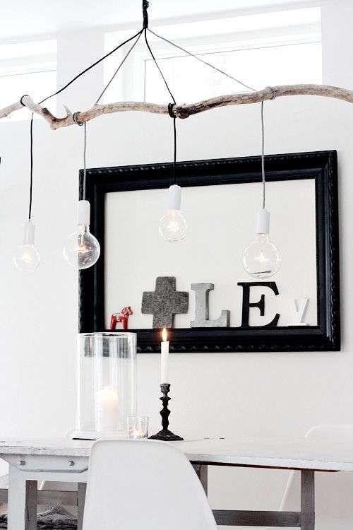 DIY: Pendant Lamp Maken Aan Een Tak