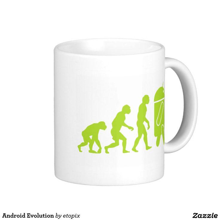 Android Evolution Coffee Mug. Regalos, Gifts. #taza #mug