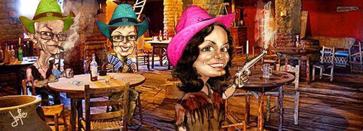 Saloon Wild Wolder Cowboys