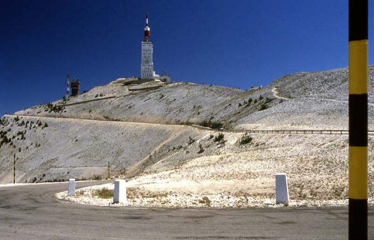 The end of the road to get at top of Mont Ventoux