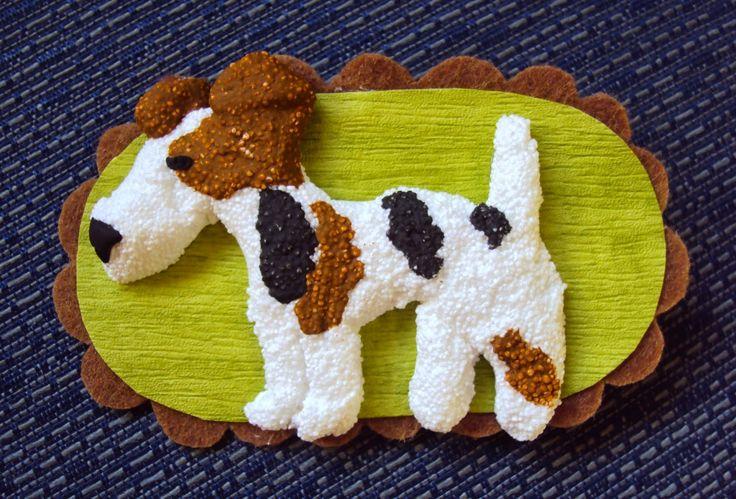 si vous voulez podeis: Broche de Fox Terrier de pelo duro