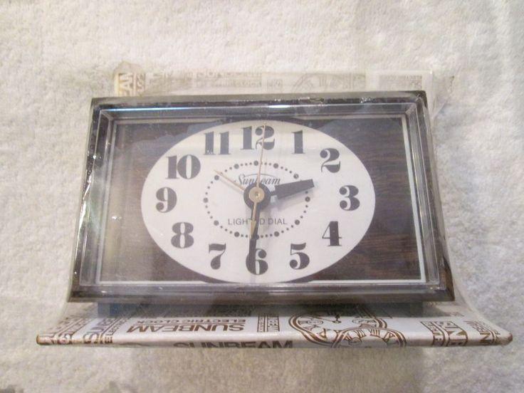 Vintage Sunbeam Electric Alarm Clock Lighted Dial New Old Stock  #SUNBEAM #Contemporary