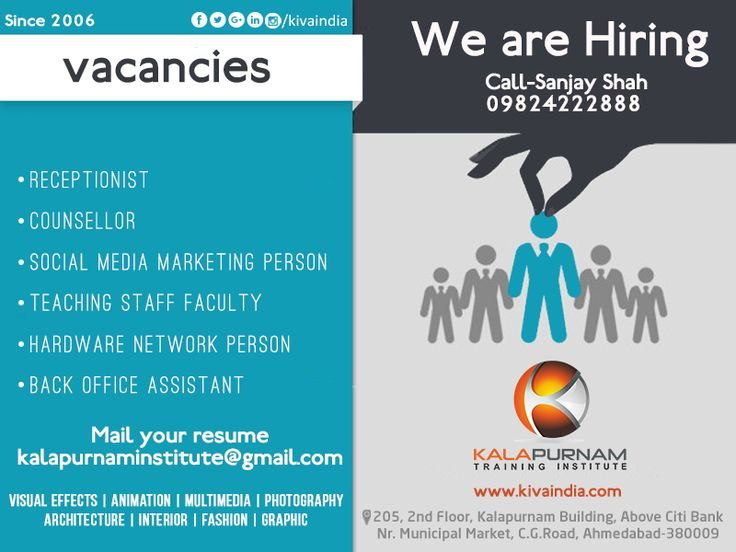 Job Vacancies Kalapurnam Institute Kalapurnam Training