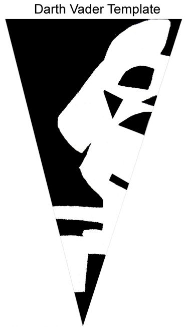 Darth Vader Snowflake Template.  Guess what I'll be making with lil' guy over break...