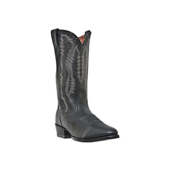 Men's Dan Post Boots Sabine DP2290 ($140) ❤ liked on Polyvore featuring men's fashion, men's shoes, cowboy boots, mens leather shoes, mens round toe shoes, mens black leather shoes, mens black shoes and mens western shoes