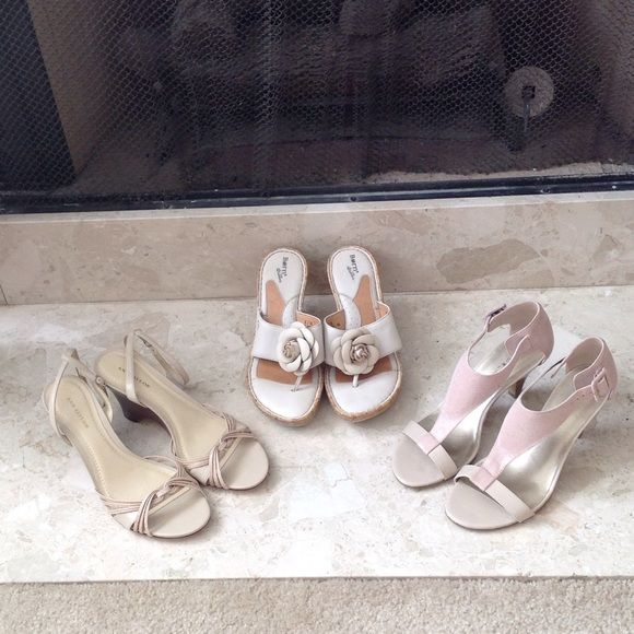Spring - Designer Shoes Sale Super cute shoes by Born, Ann Taylor (both in size 8) and Bandolino, size 7. New, never been worn beauties. These are excellent for off your perfect Pedicures . And they go with so many of your wardrobe pieces. Shoes Sandals
