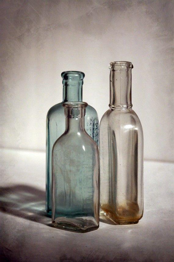 BOGO SALE Antique Bottles still life fine art photography