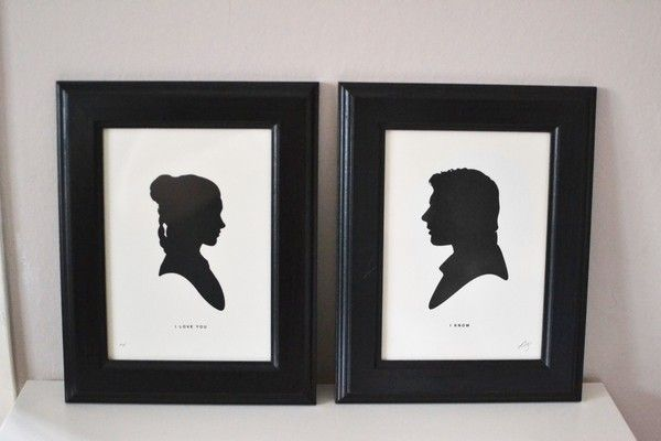 Star Wars prints, Leia+Han 4ever!