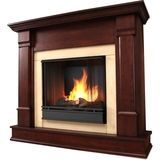 Real Flame - Freestanding Gel Fireplace - Indoor Usage - Dark Mahogany
