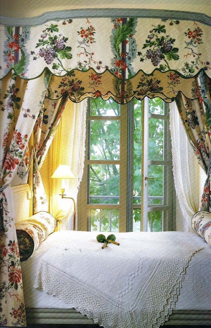 Decorating theme bedrooms maries manor window treatments curtains - Burlap Drapes Blue Striped Ribbon See More Bedroom