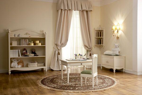 Игровая комната для малыша. Нежная белая мебель Oliver от компании Woodright