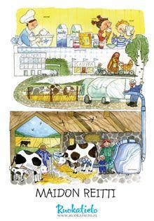 Maidon reitti, kuvitus Heli Pukki