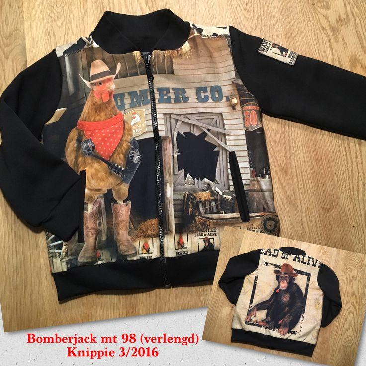 Bomberjack mt 98 (verlengd) Patroon Knippie 3/2016