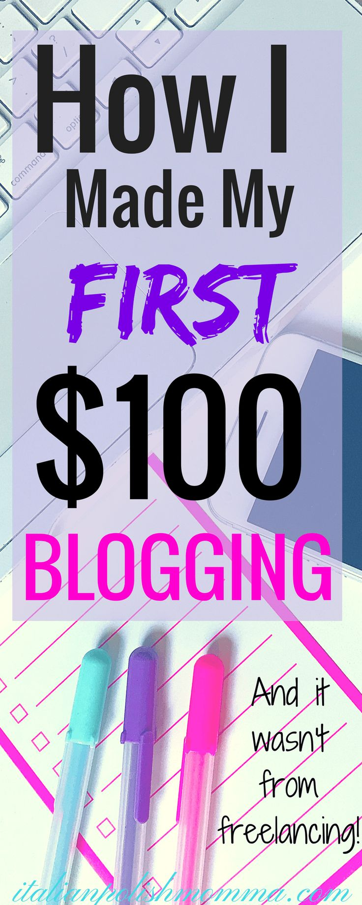 Here is how I made my first $100 blogging by my second month! These blogging tips will show you how easy it is to make money blogging for beginners! It is possible to make money working from home blogging! And this wasn't from freelancing!