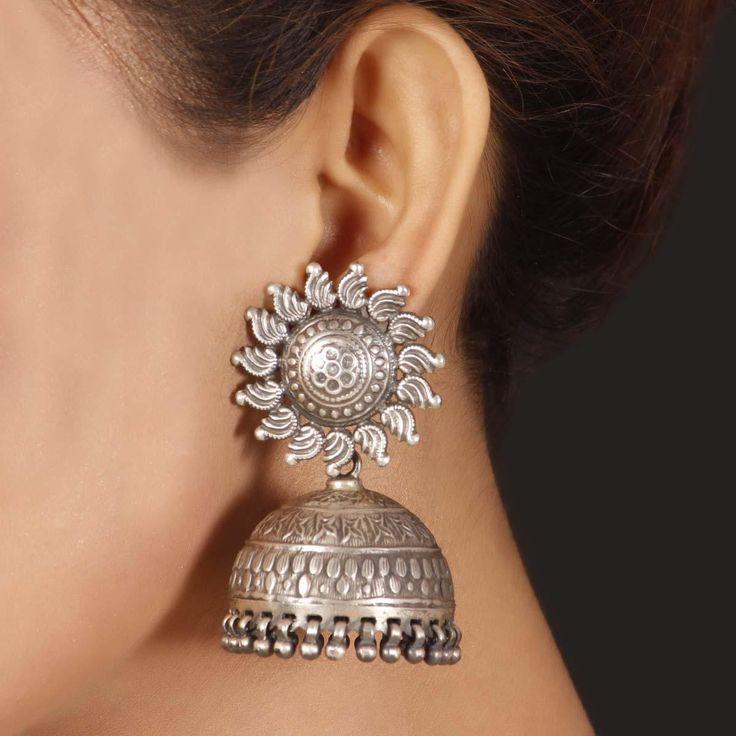 59 best jhumkas images on Pinterest | Diy wedding jewellery, Gold ...
