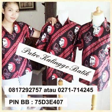 Seragam batik printing jokowie kalinggo batik