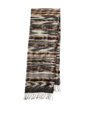 Saachi Women's Woven Stripes Scarf (Black/White)
