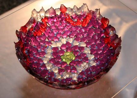 A beautiful melted bead bowl. Can't wait to make some.