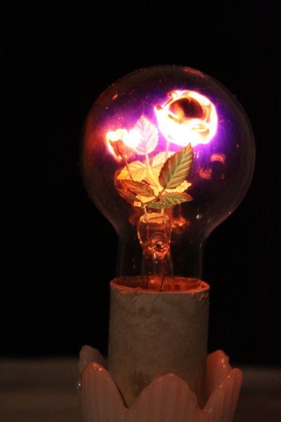 Vintage Rose Aerolux Light Bulb With Milk Glass Lamp Base on Etsy, $59.95