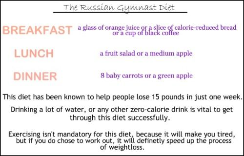 The Russian Gymnast Diet